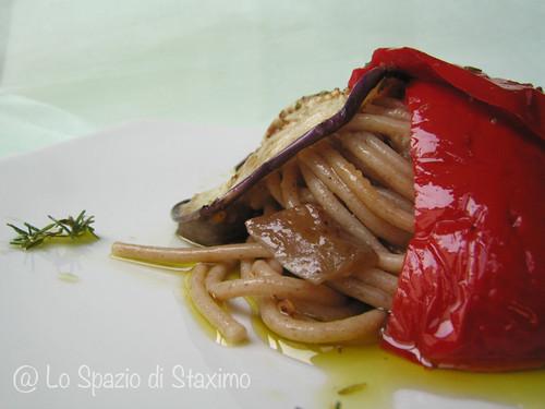 Spaghetti di Farro alle Verdure