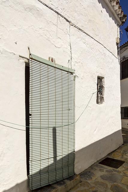 Spain - Malaga - Farajan - A door with a blind