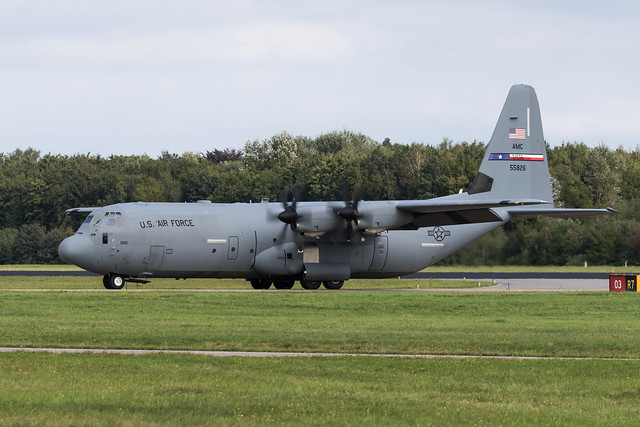 Eindhoven EHEH 2021 : Falcon Leap  USAF AMC C-130J-30 15-5826