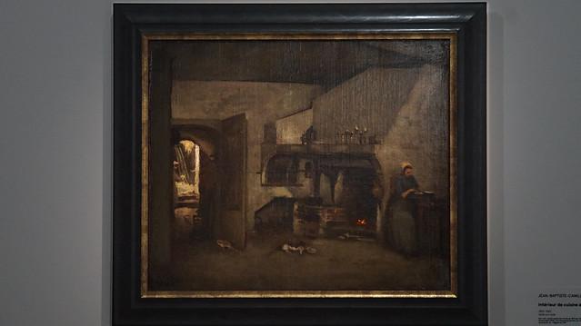 Jean-Baptiste Camille Corot : intérieur de cuisine