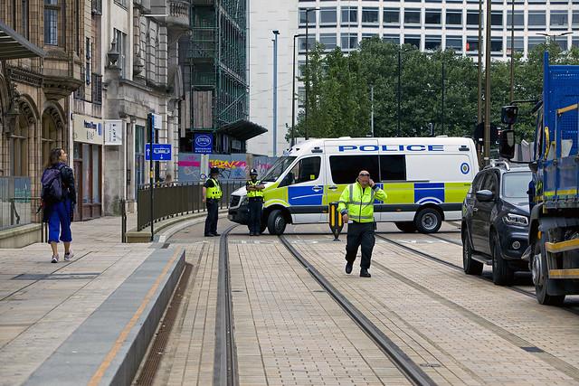 Blocked Tramway, Birmingham, September 2021