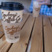 Jackson, Wyoming - August 9, 2021: A coffee drink mocha from Cowboy Coffee Company, a local coffee shop in Jackson WY