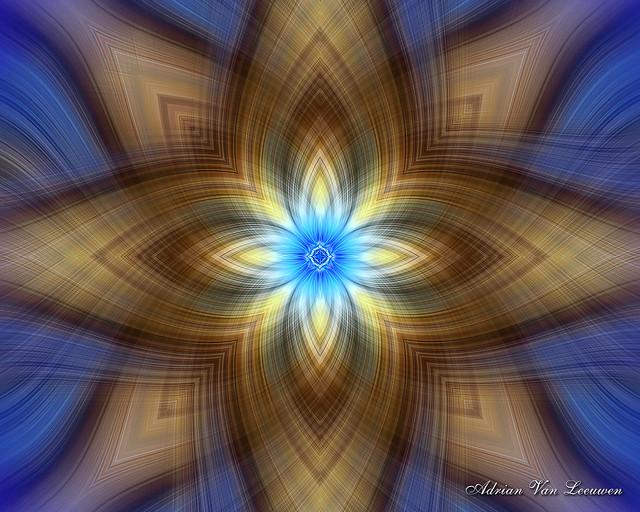 Fantasy Illuminated Star Spiral Art