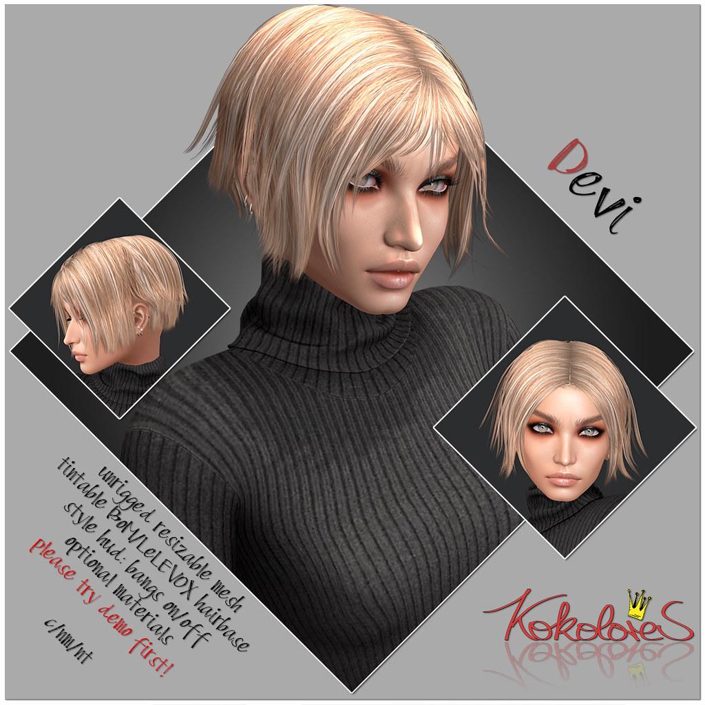 [KoKoLoReS] Hair Devi for blanc!