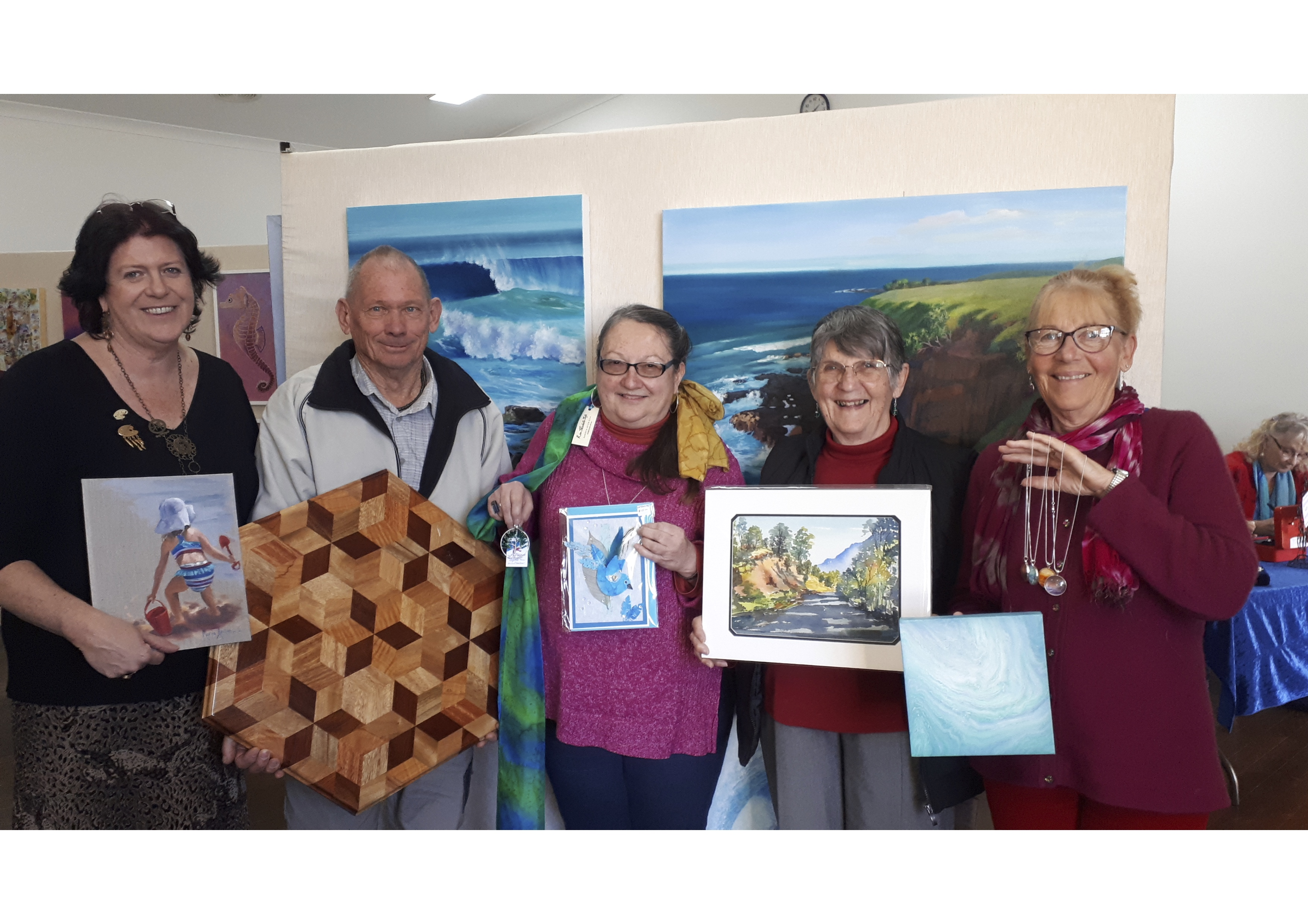 Art & Craft 314 Some of the Bacci Members (L-R), Maria Heaton, Barry Magnay, Helen Dunn, Janet Hassall & Rosie Kaplan
