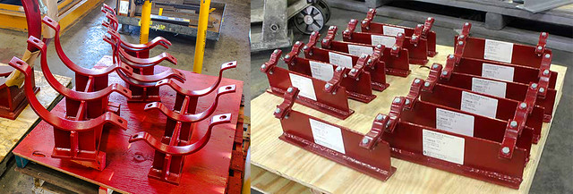 230 Chromoly Pipe Shoes & Clamps Custom-Designed for Service at a Natural Gas-Fed Ammonia Plant