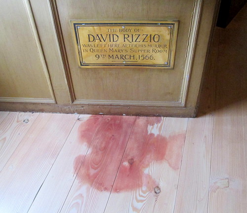 Rizzio's 'bloodstain', Palace of Holyroodhouse, Edinburgh, Scotland