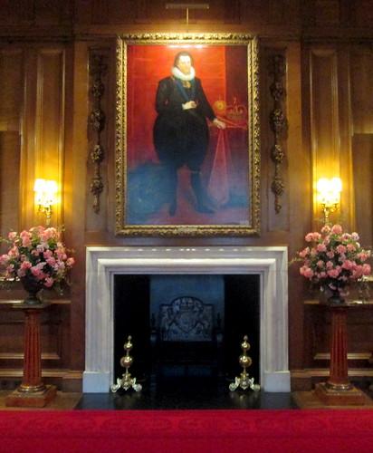 James VI + fireplace, Holyrood House, Edinburgh