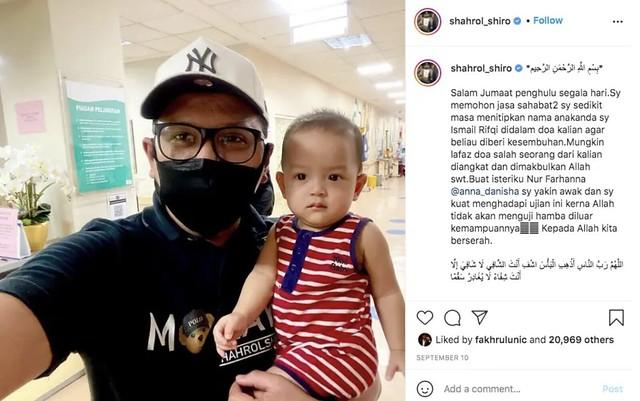 Hidap Masalah Buah Pinggang Kronik, Anak Shahrol Shiro Jalani Pembedahan 1 Oktober
