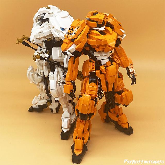 Lego Tiger samurai mech team