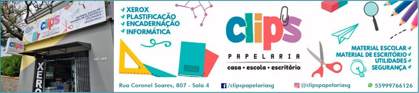 Clips Papelaria - tudo em material escolar, escritório e muito mais em São Gabriel!