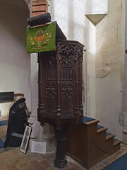 England's smallest medieval pulpit