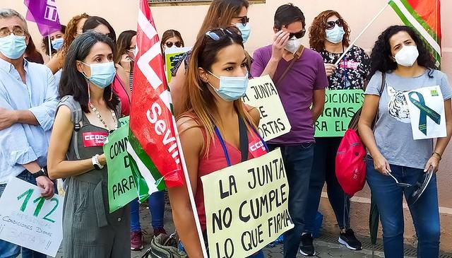 Foto de CCOO de Sevilla. Concentración 112