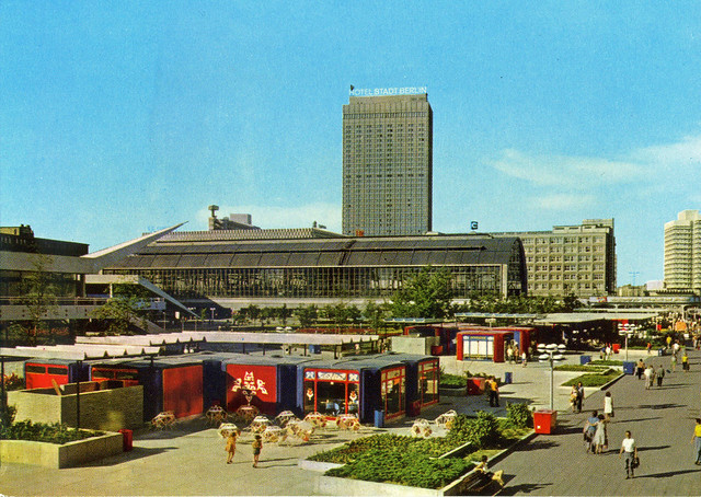 Berlin, Rathausstrasse with kiosks, 1977