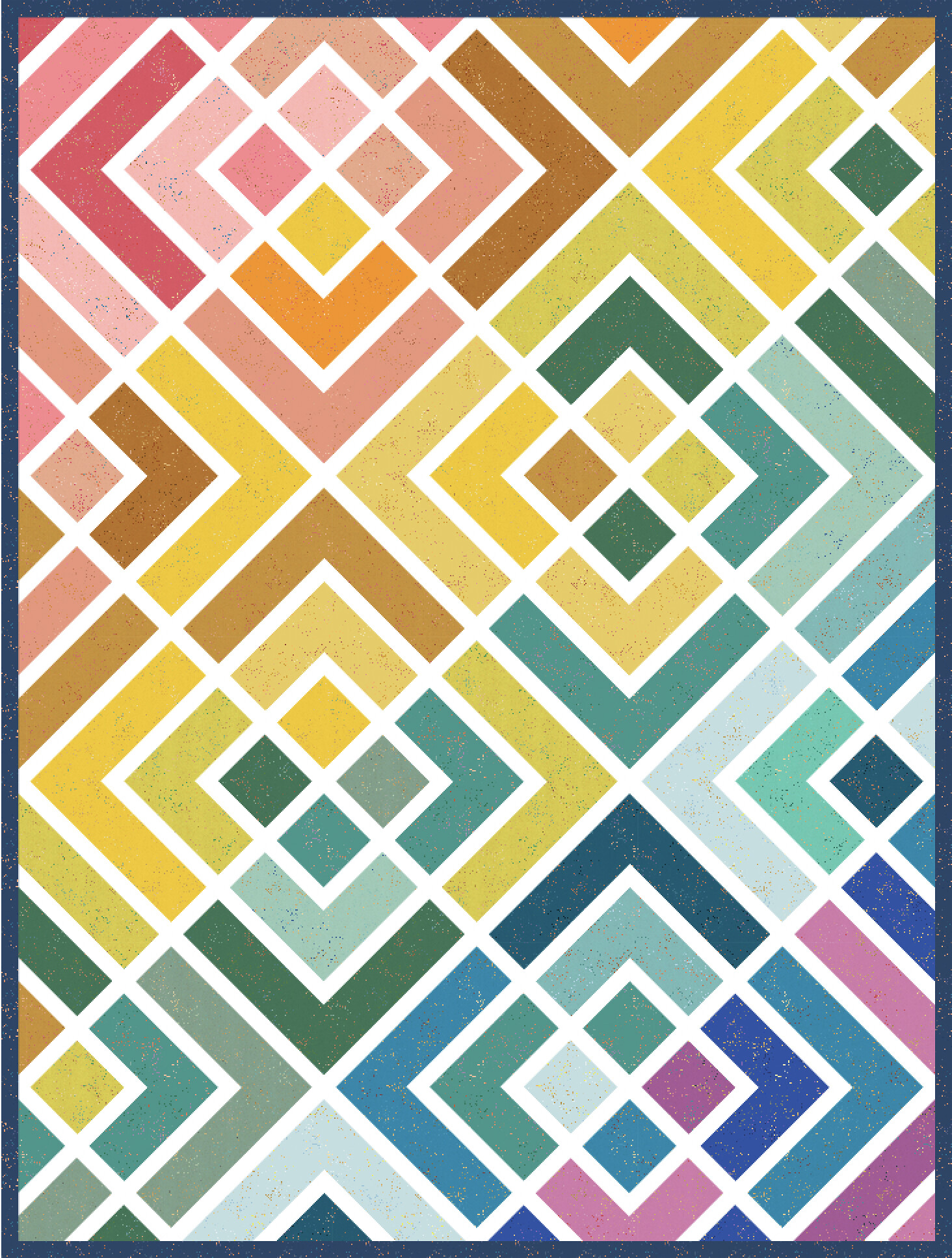 The Penny Quilt Rainbow Version - Kitchen Table Quilting