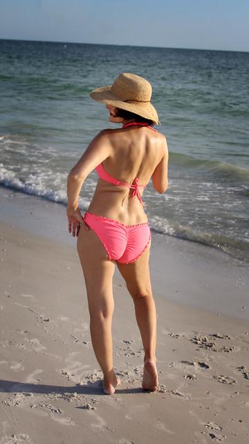 Mary in a Hat & Bikini