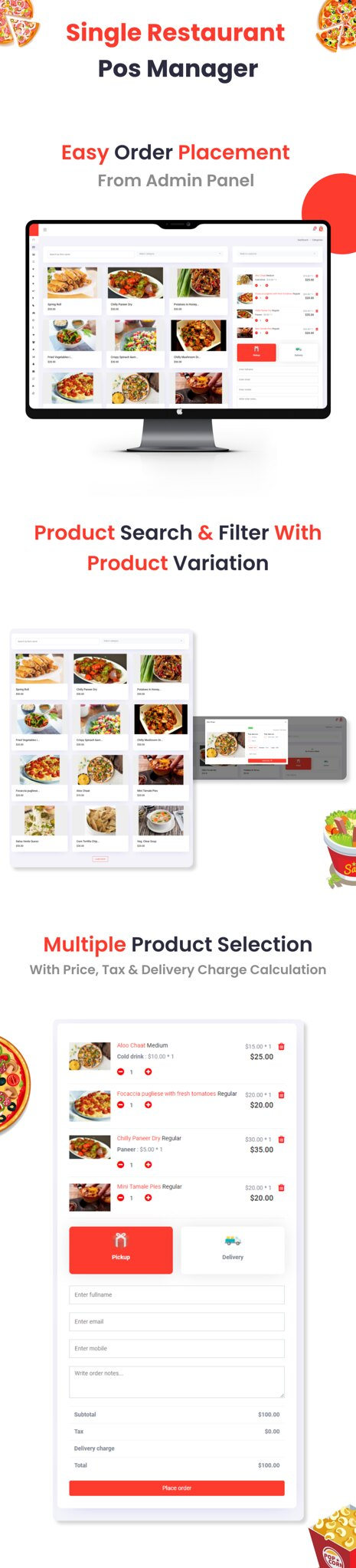 Single Restaurant   POS Manager add-on - 4