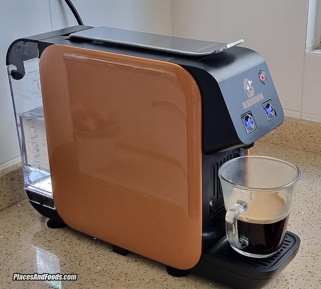 black bixon coffee machine