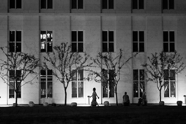 A walk at night. 밤 산책