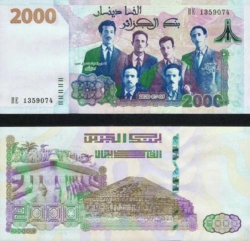 2000 Dinárov Alžírsko 2021 P147