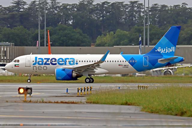 Jazeera Airbus A320-251N F-WWIF (9K-CBG) TLS 21-09-21