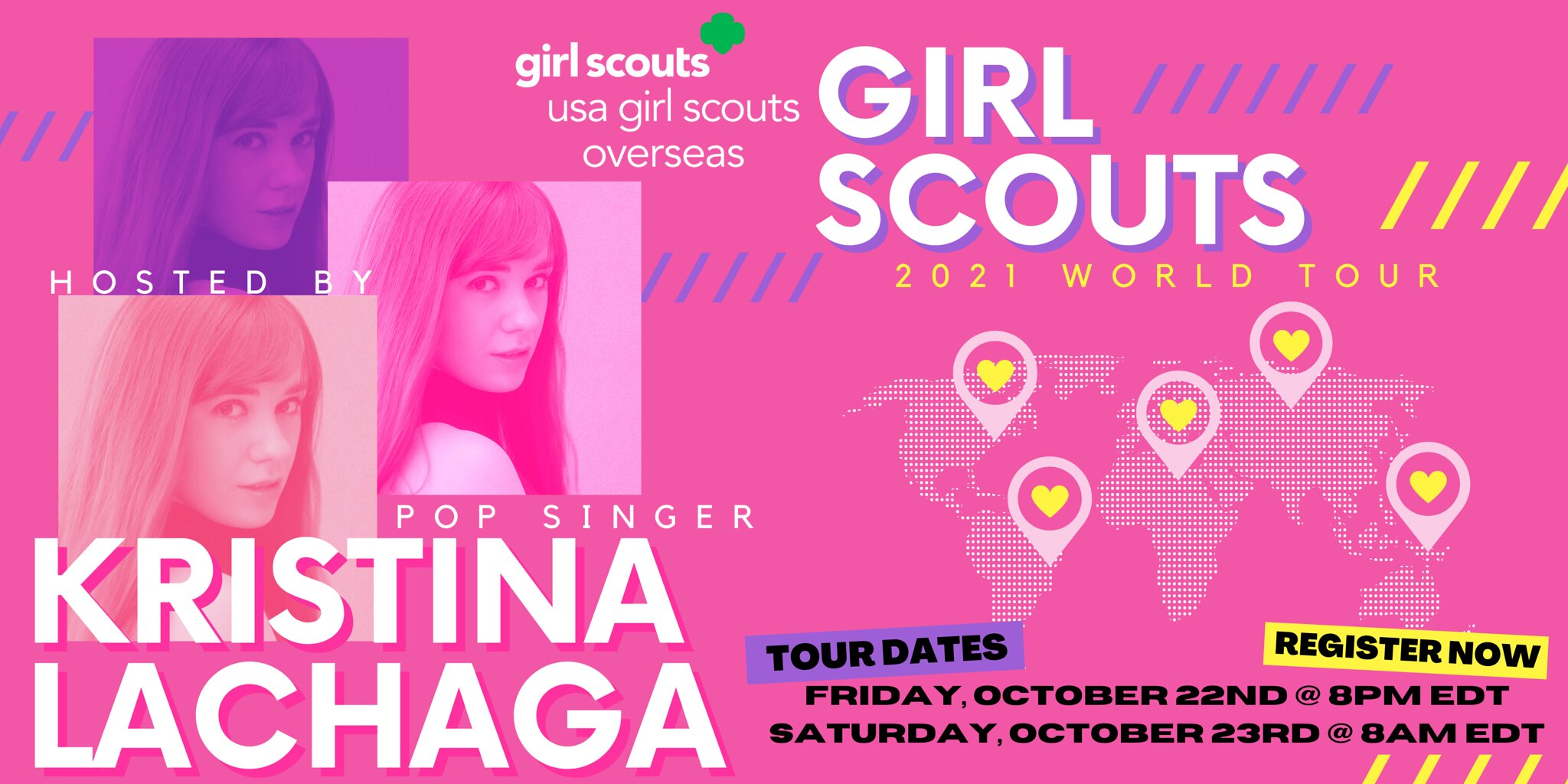 Kristina Lachaga can't wait to host & perform at USA Girl Scouts' World Tour!