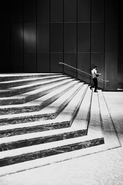 Shinjuku Scene 4: A man going down the stairs