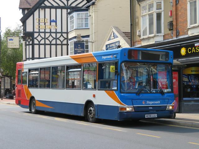 AE56LUJ 35186 Stagecoach Midlands Dennis Dart SLF in Rugby