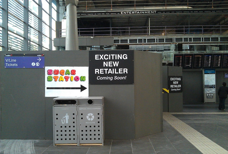 Southern Cross Station building for new retailers, September 2011