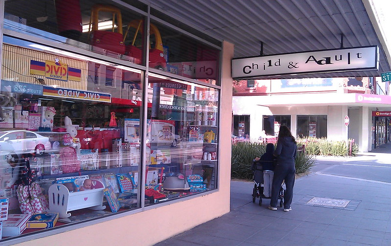 Child And Adult and Civic Video shops in Elsternwick, September 2011