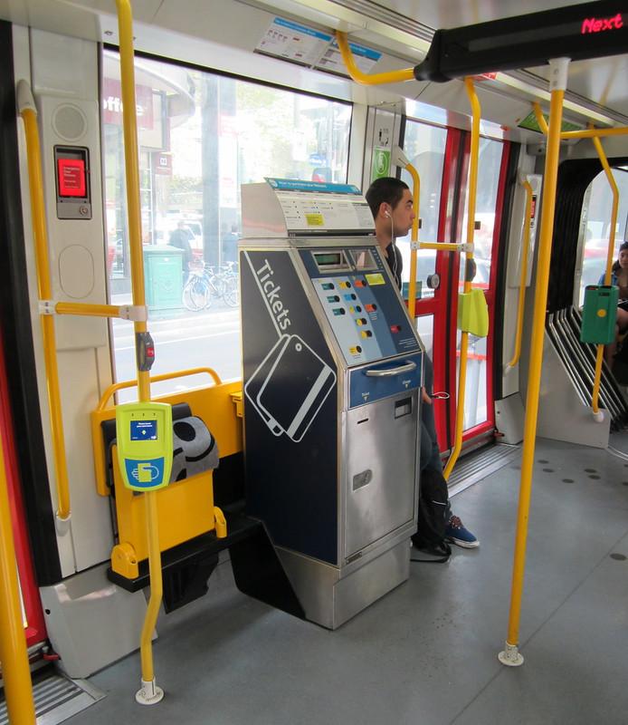 Tram interior, September 2011