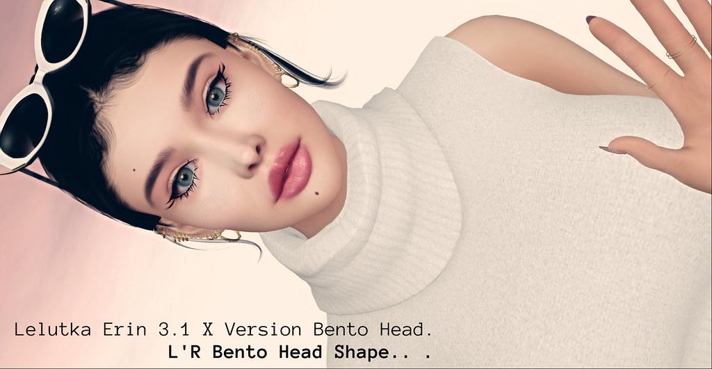 new, Lelutka Erin 3.1 x Version Bento Head Shape –