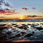 28. September 2021 - 7:14 - Sun rising at Brora Beach, Highland, Scotland