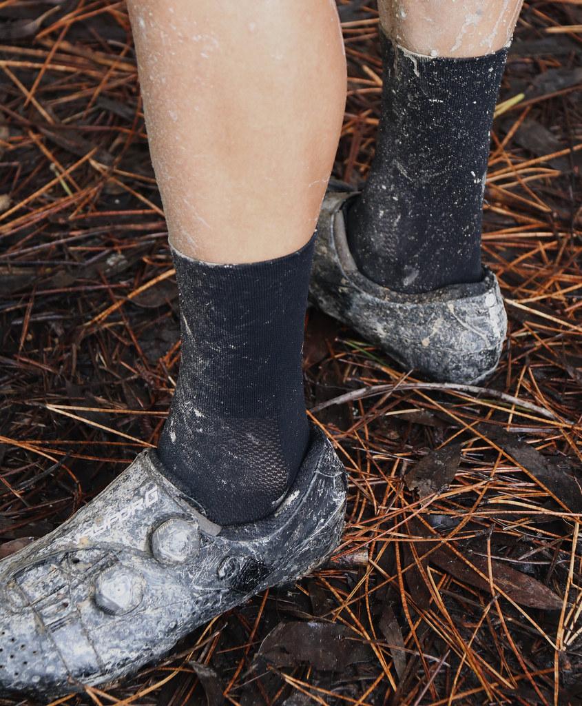 calcetín negro foto