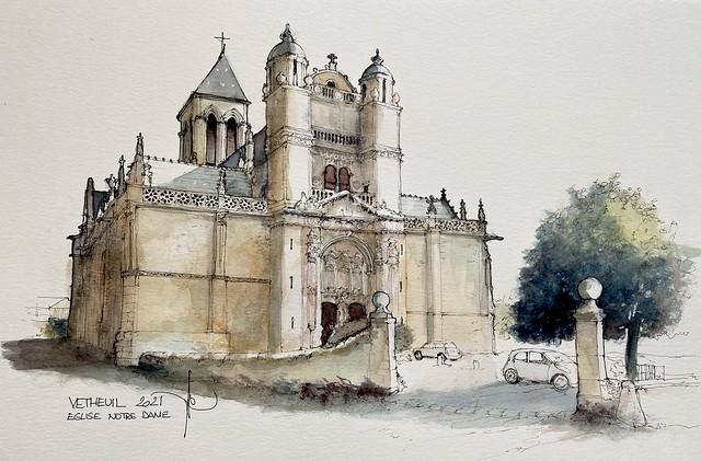 VETHEUIL Eglise Notre Dame