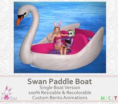 ‧̍̊˙˚˙ᵕ꒳ᵕ˙˚˙ Swan Paddle Boat by Poofles ˙˚˙ᵕ꒳ᵕ˙˚˙‧̍̊