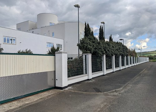 Modern Art Deco Building and Fence
