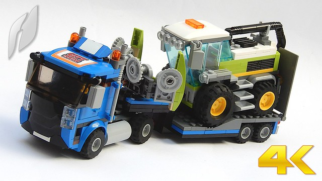 Modified Lego 60223 / Harvester Transport (4K)