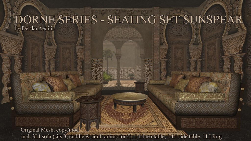 Dorne Series – Sunspear Seating Set