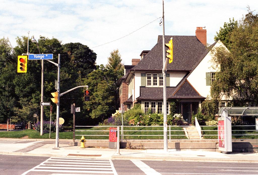 North Toronto Mansion and Crosswalk_