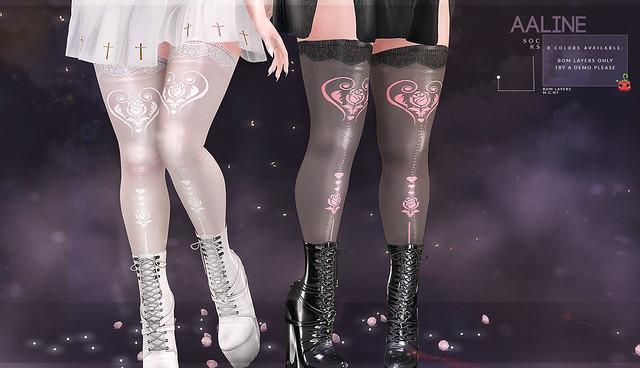 {Aaline} socks [Cubic Cherry] @ Planet29