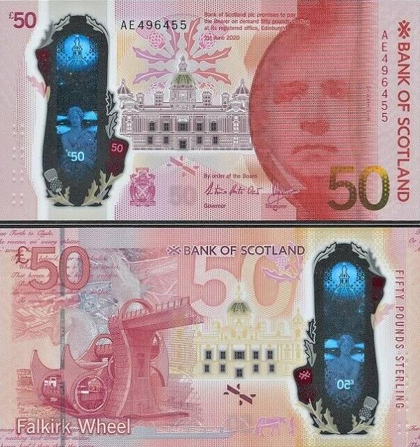50 libier Škótsko 2020 Bank of Scotland, polymer P134