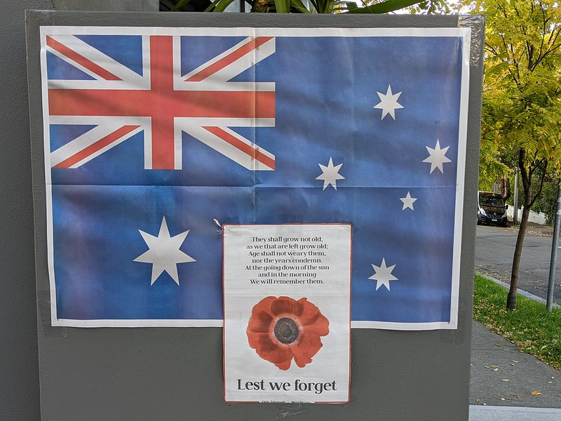 Anzac Day 2020: no gatherings, just signs