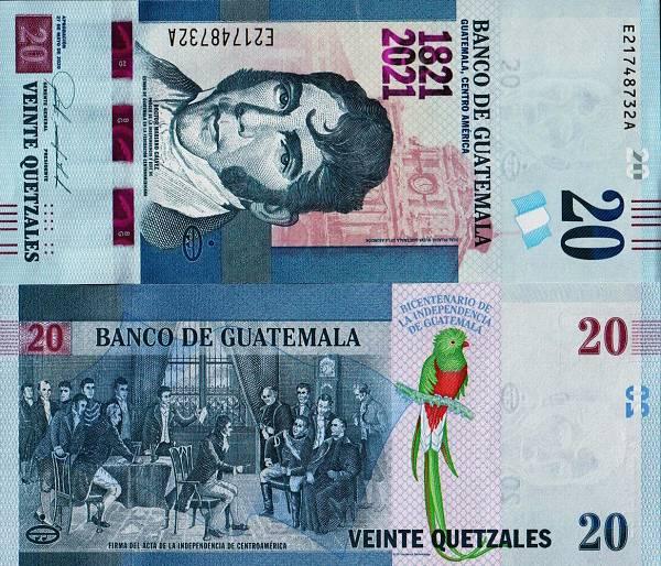 20 Quetzales Guatemala 2020(21), P127