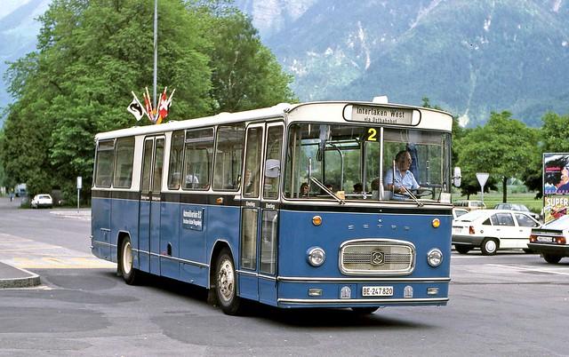 Automobilverkehr BLS: BE247820 at Bhf. Interlaken Ost