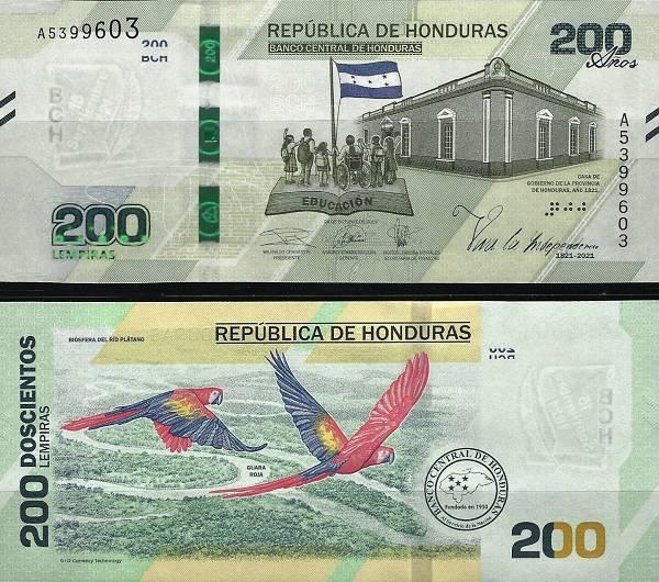 200 Lempiras Honduras 2019(21), P105