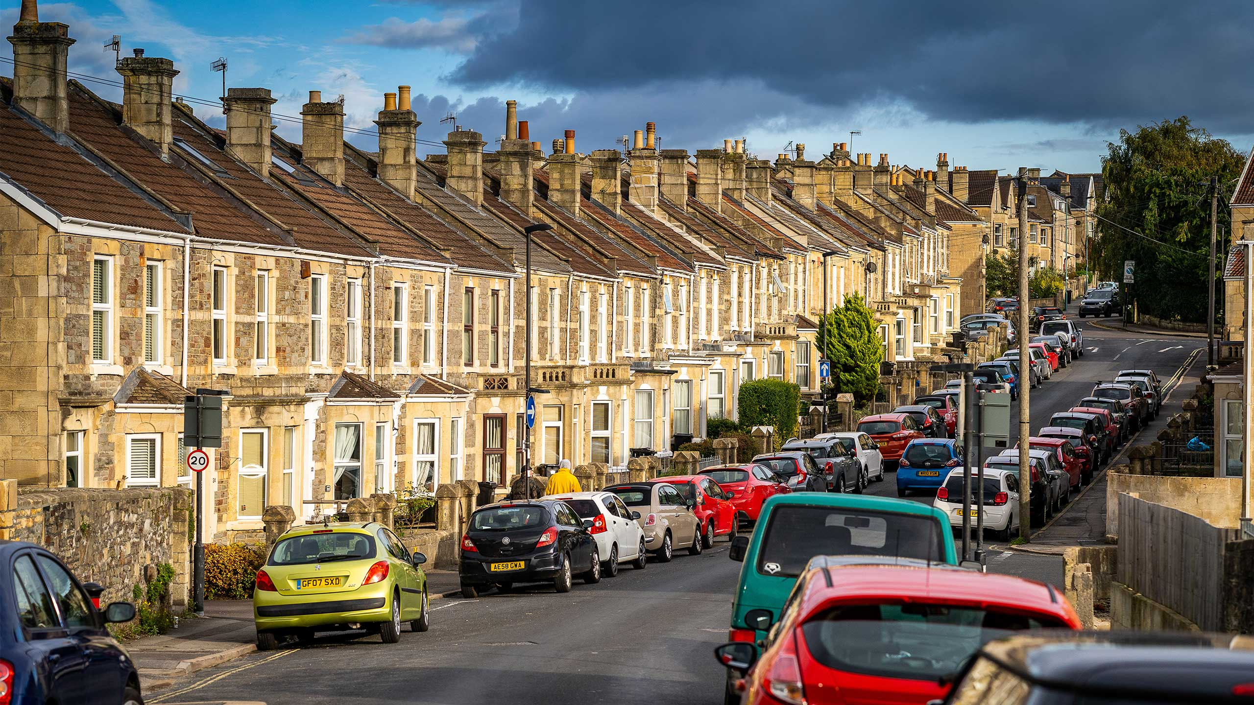 Houses in Oldfield Park, Bath.