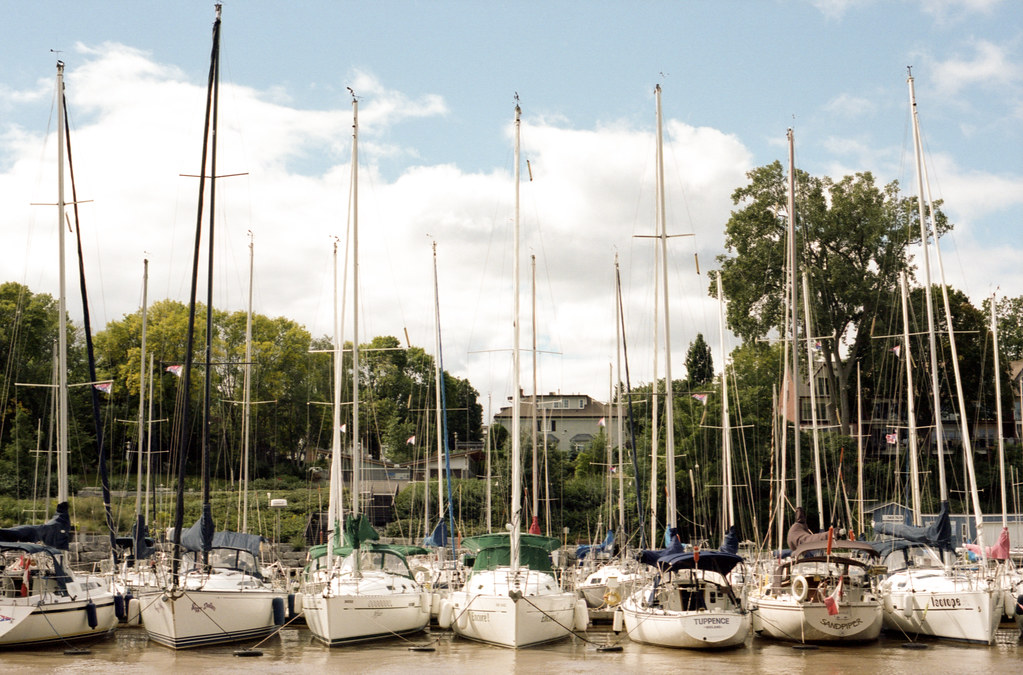 Sailboats on the West Side of the 16