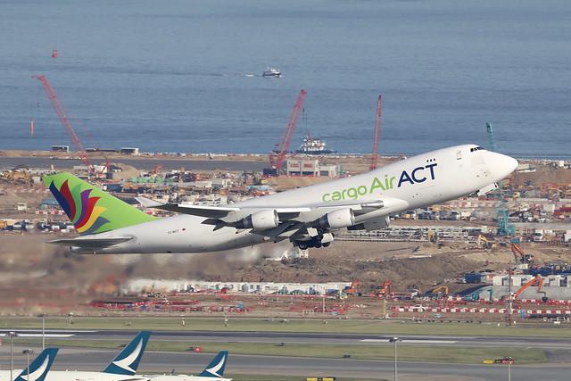 TC-MCT, Boeing 747-400F, Air ACT, Hong Kong