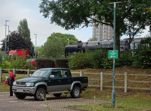 Lorry lumbers Locomotive load